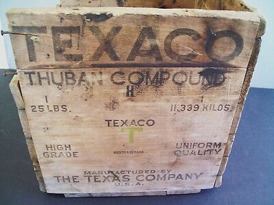 Texaco Thuban Compound Wooden Box The Texas Co.