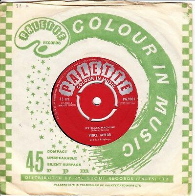 Vince Taylor & His Playboys * Jet Black Machine/ I'll Be Your Hero* 1960  R&r