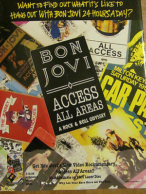 Bon Jovi, Access All Areas, Full Page Vintage Promotional Ad