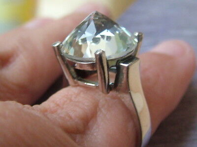 Silver Pointed Stone Ring Beautiful