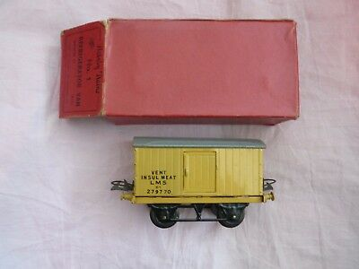 "HORNBY R172 ""O ""BR No 1 REFRIGERATOR VAN–LMS VENT INSUL MEAT 6T 279770 - BOXED"