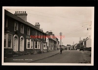 IRELAND Co Wicklow ARKLOW FERRYBANK STREET SCENE Signal REAL PHOTO PC E20C - 50
