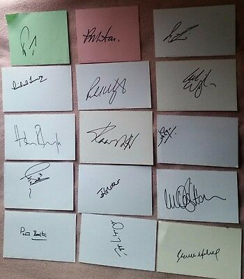 X29 Autographs Cricket Hand Signed Cards & Pics Joblot England Ashes India Ect