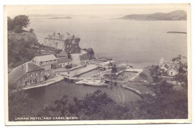 Crinan Hotel and Canal Basin,publisher M & L National Series (AP8)