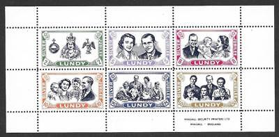 Lundy 1977 Silver Jubilee Miniature Sheet (MNH)