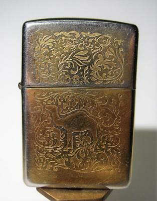 1996 Double Sided Camel  - Gold Colored  Zippo Lighter