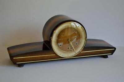 SUPERB Later ART DECO WESTMINSTER CHIME 5-GONG GERMAN Ankeruhr MANTEL CLOCK