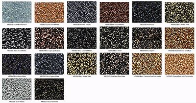 3.4mm Drop Miyuki Japanese Seed Beads with Czech Coating - Pick from 20 Colors!