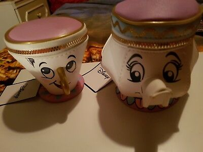 2 primark purses mrs potts & chip  beauty and the beast NEW WITH TAGS