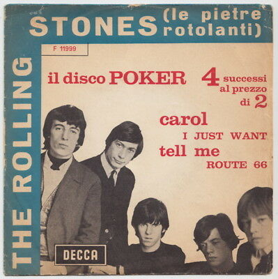 The ROLLING STONES * Carol * 1964 ITALY EP * Blue Cover *