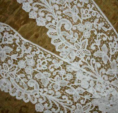 1.42m BEAUTIFUL ANTIQUE 19th CENTURY LINEN HONITON OR BRUSSELS BOBBIN LACE