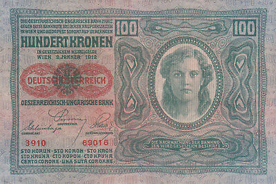 100 Korona/krone Ef++ Banknote From Austro-Hungary 1919 Pick-56!