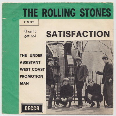 The ROLLING STONES * Satisfaction * 1965 ITALY * Green Picture Sleeve *