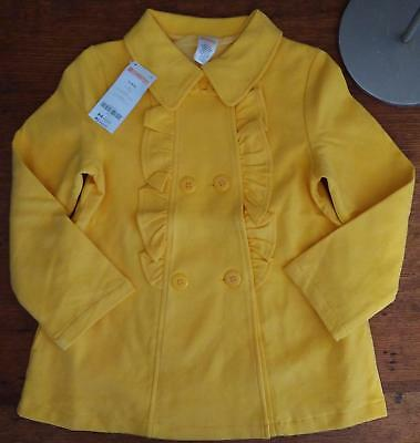 NWT Gymboree Outlet Girls Flower Shower Yellow Peacoat Size 5 6 7 8 Outerwear