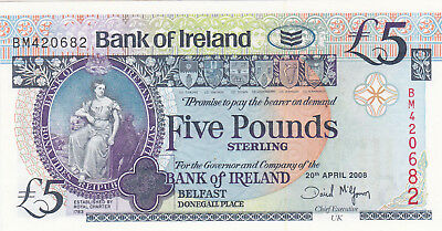 5 Pounds Aunc-Unc Banknote From Northern Ireland 2008!pick-83