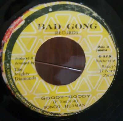 "7"" Single: Bongo Herman - Goody Goody (Bad Gong), crazy instrumental!"