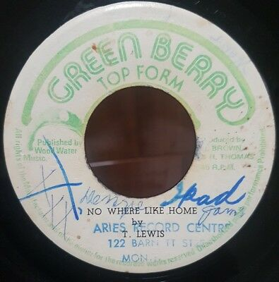 "7"" Single: T. Lewis - No Where Like Home (Green Berry), check the dub"