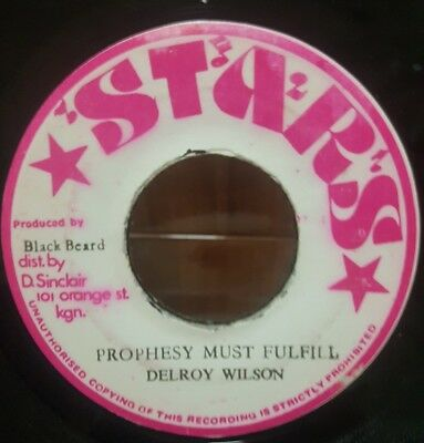 "7"" Single: Delroy Wilson - Prophesy Must Fulfill (Stars), good roots"