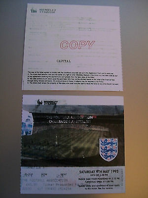 1992 F.A. Cup Final Ticket Liverpool v Sunderland mint condition