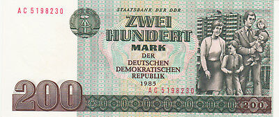 200 Mark Aunc-Unc Unissued Banknote From Ddr/east Germany 1985!pick-32