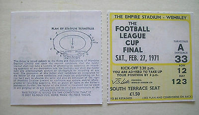 1971 League Cup Final Ticket Aston Villa v Tottenham Hotspur in Mint condition.