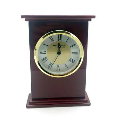 Piano Wood mantle clock with Roman Gold Bezel W2636