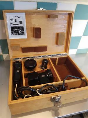 Rare Carl Zeiss 200/1.25x Microscope Lens Outfit for Contarex Bullseye Camera