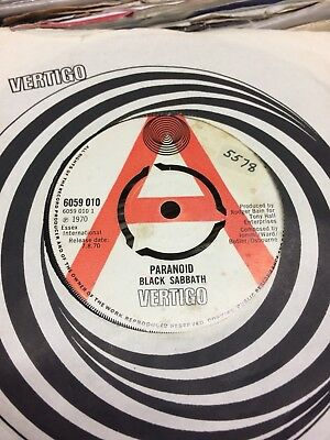 "Black Sabbath Demo:""paranoid"".1970 Vertigo+Vertigo Swirl Cover.excellent Example"