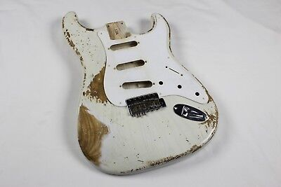MJT Official Custom Vintage Aged Nitro Guitar Body By Mark Jenny VTS White Blond