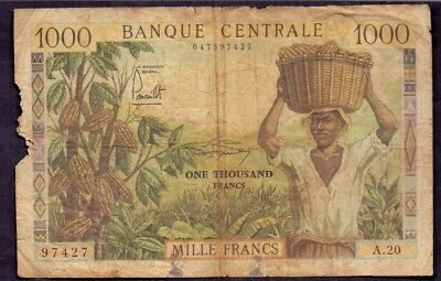 1000 Francs From Cameroun French Colony