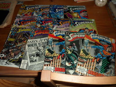 13 The Adventures of Superman comics DC,f/vf condition,1988,mainly us issues
