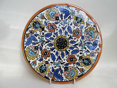 A Vintage Hand Painted Hanging Plate Plaque Tile Spain Spanish Colourful! 4