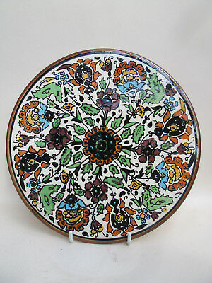 A Vintage Hand Painted Hanging Plate Plaque Tile Spain Spanish Colourful! 3