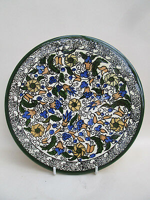 A Vintage Hand Painted Hanging Plate Plaque Tile Spain Spanish Colourful! 1