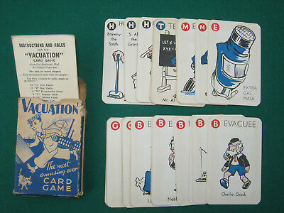 WW2 VACUATION CARD GAME COMPLETE + INSTRUCTION + BOX. Evacuation game Home Front
