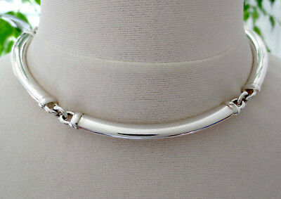 QUINN, SCHEURLE Heavy 52.8 g, Vintage 1970's Sterling Silver Necklace, GERMANY