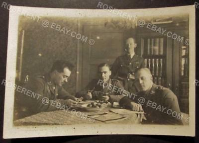 1919 Royal Warwickshire Regiment - Koln - Officers playing Cards - 8.5 by 6cm