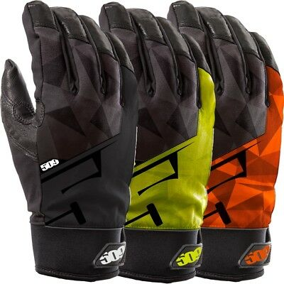 509 Men's Freeride Waterproof Insulated Snowmobile Gloves - Black Lime or Orange