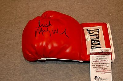 Irish Micky Ward The Fighter Autographed Red Boxing Glove Coa Jsa Witnessed\