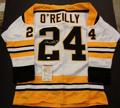 Terry O'Reilly Boston Bruins Autographed Signed White Style Jersey XL w-coa JSA
