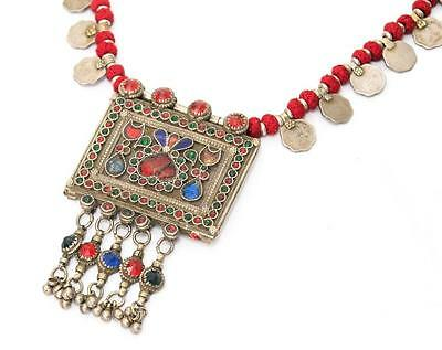 Tribal Banjara Kuchi Old Coins Rare Belly Dance Vintage Gypsy Necklace