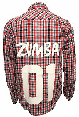 Zumba Unisex Convention Exclusive 01 Flannel Shirt - Round The Keep Red Z3T00064