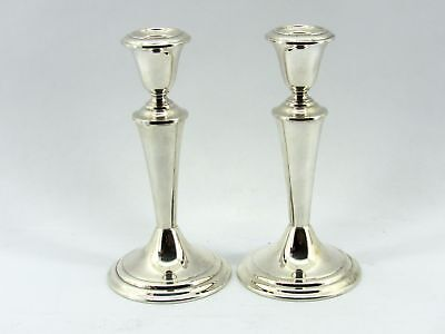"Beautiful Pair GORHAM 7-1/2"" Sterling Silver Candlesticks - Never used"