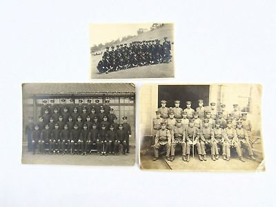 Lot of 3 Pre WWII Japanese Military Group Photographs