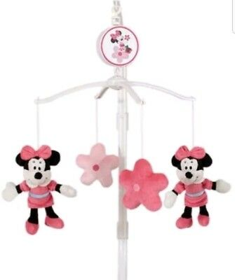 Disney Minnie Mouse Baby Crib Musical Mobile toy flower butterfly