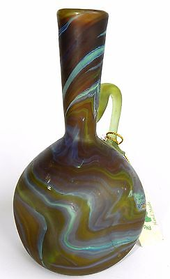 Antique Ancient Holy Land PHOENICIA Hand Made Glass Jug Vase Pitcher Bottle 5.5""
