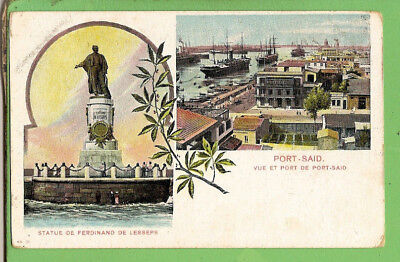 #j. Shipping  Postcard -   Port Said, Egypt, Ferdinand De Lesseps