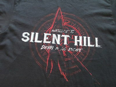 Welcome to Silent Hill Video Game Movie Black Red T Shirt Size M Medium L Large