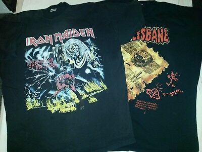 Iron Maiden / Wolfsbane T-Shirts. Extra Large.