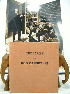 Watchtower FILM SCRIPT for God Cannot Lie Jehovahs Wintesses Jehovah NICE!
